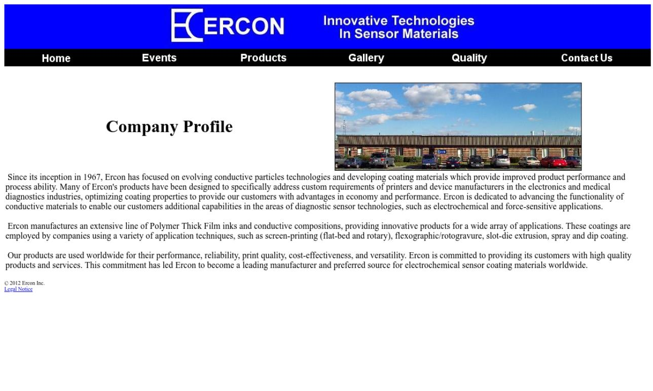 Ercon, Inc.